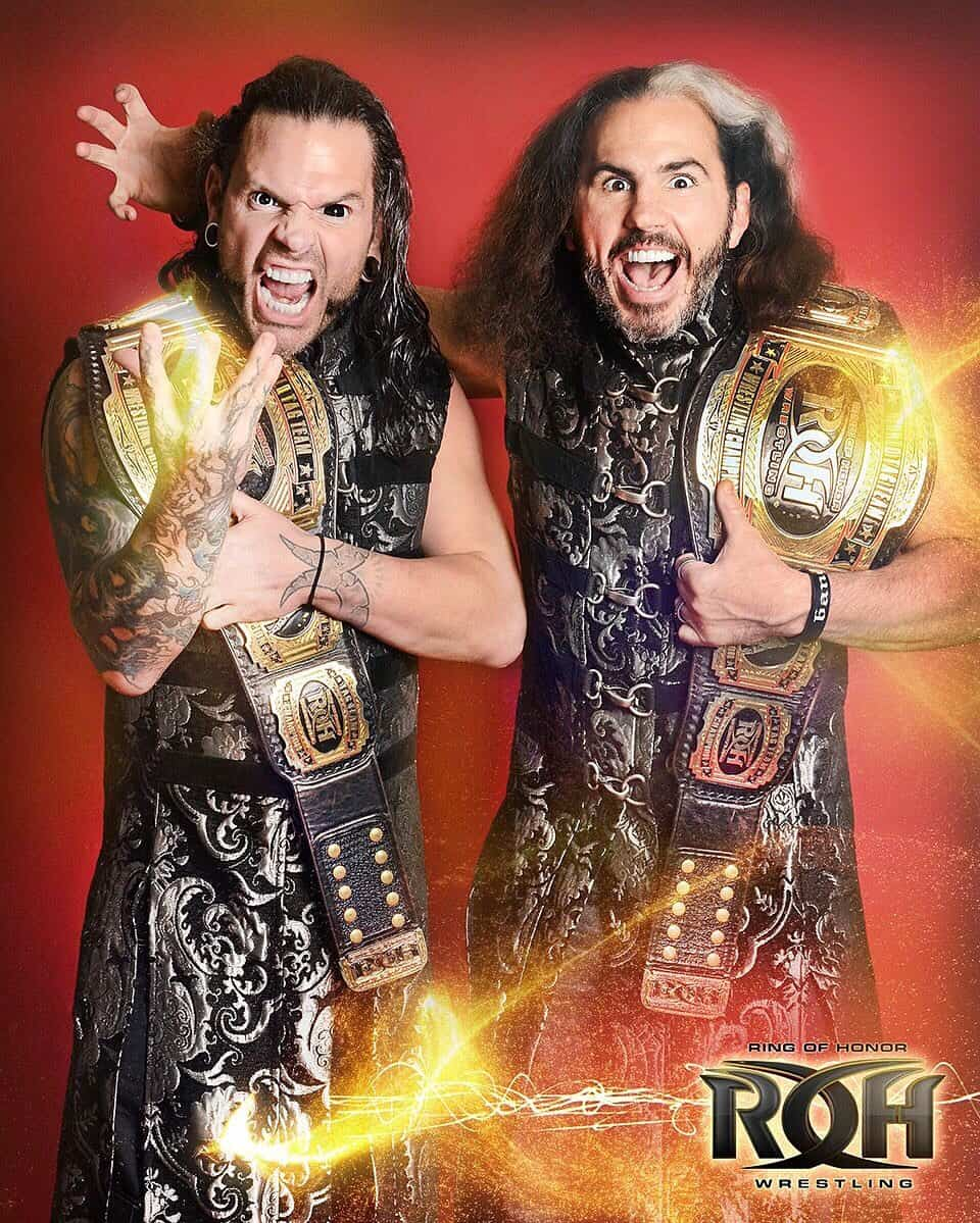Broken Hardys Tag Team Champs in Ring of Honor - Photo Credit: Broken Matt Hardy / Ring of Honor via Twitter