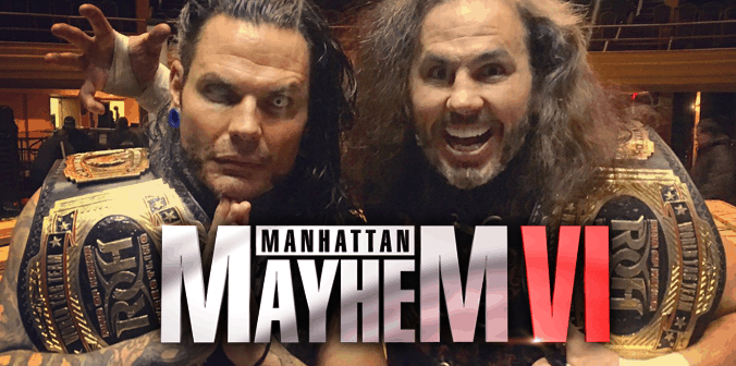 Broken Hardys Win ROH Tag Titles at ROH Manhattan Mayhem VI - Photo Credit: Ring of Honor via Twitter