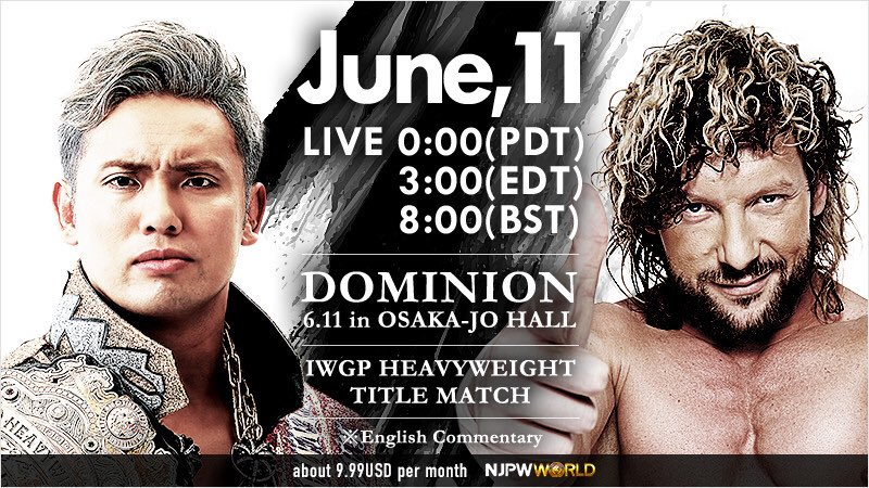 10 Reasons to watch Kenny Omega Vs Kazuchika Okada 2 at NJPW Dominion - Photo Credit: NJPW World via Twitter