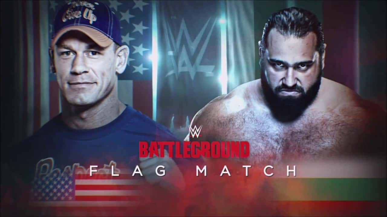 John Cena Vs Rusev Flag Match at WWE Battleground - Photo Credit: Screencap from WWE Network/Youtube